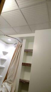 beadboard drop ceiling in bathroom