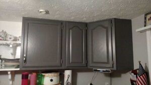 plain gray cabinets
