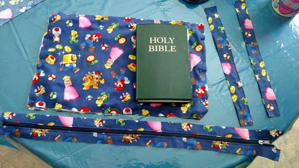 Bible on fabric