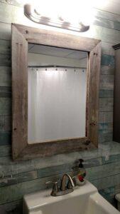 fence pickets framing mirror