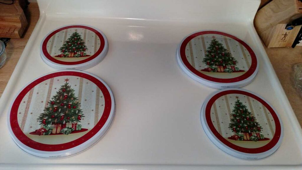 Christmas tree burner covers
