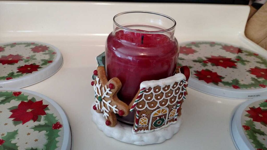 large gingerbread house candle holder
