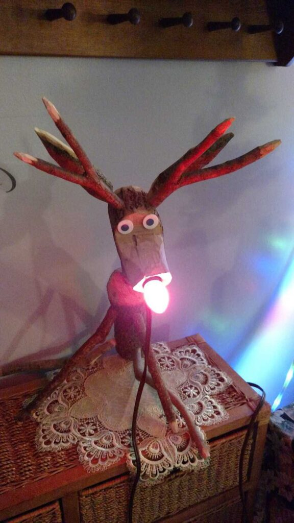 rudolph reindeer with nose lit up