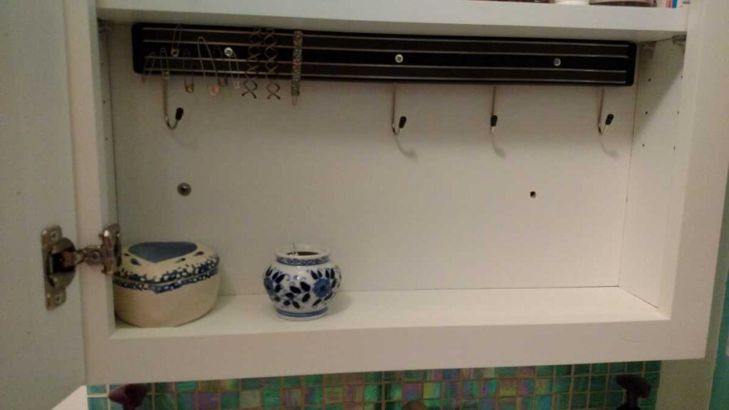 magnetic strip with hooks