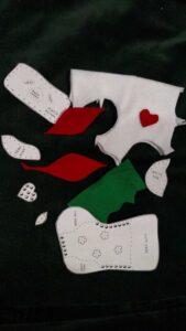 felt pieces for stocking
