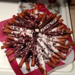 Dark and White chocolate covered pretzel rods