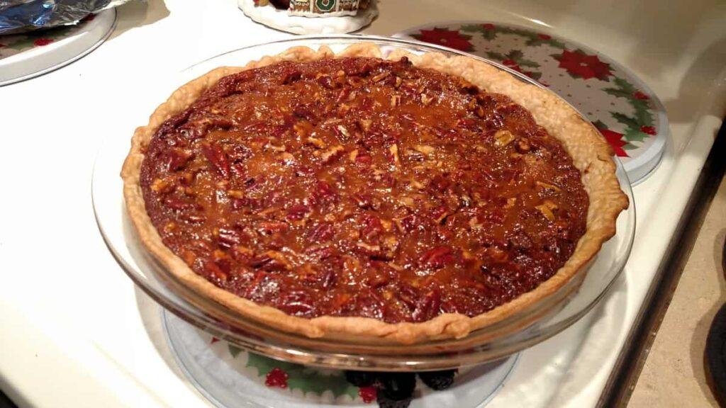 pie sunk down a bit