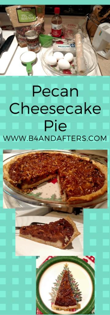 pecan cheesecake pie graphic for Pinterest