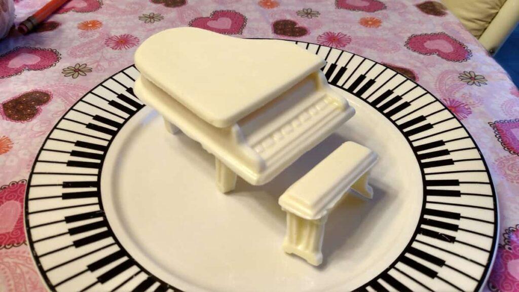 white chocolate piano