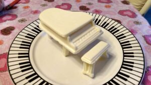 white chocolate piano
