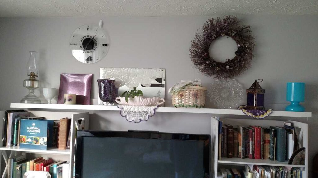 another view of the long wall shelf