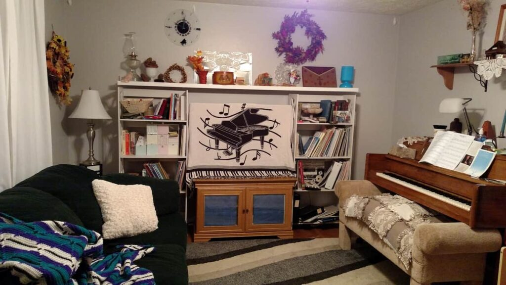 tv with bookcases on each side
