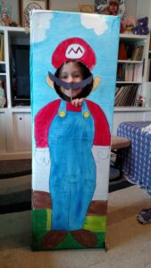 Super Mario photo booth