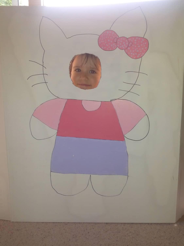 Hello Kitty cardboard castle