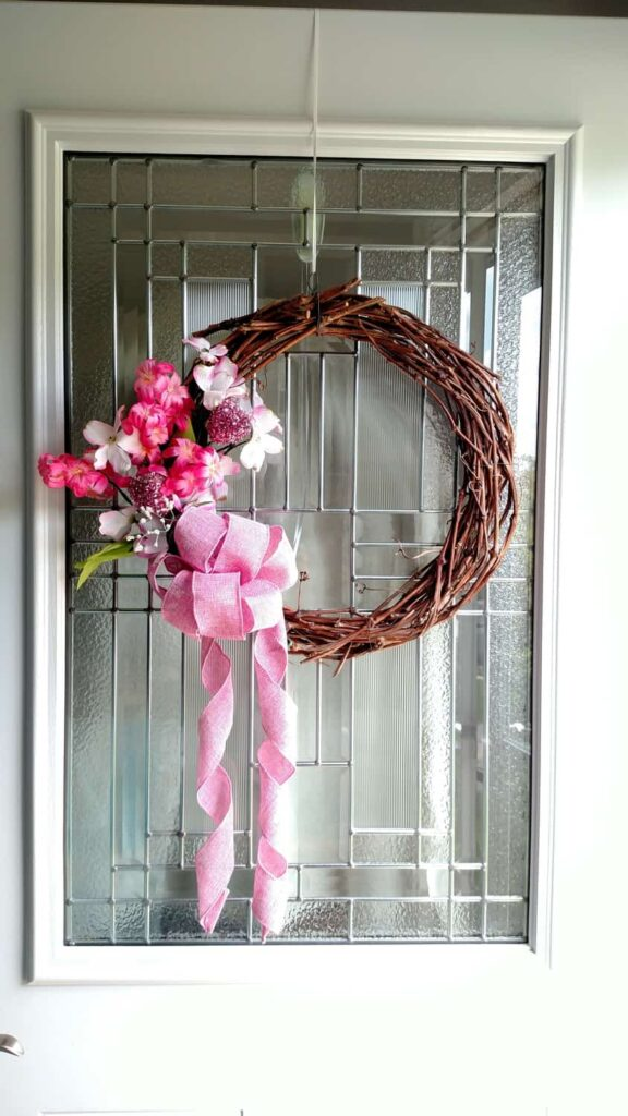 grapevine wreath with dollar tree items