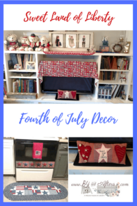 collage of patriotic home decor