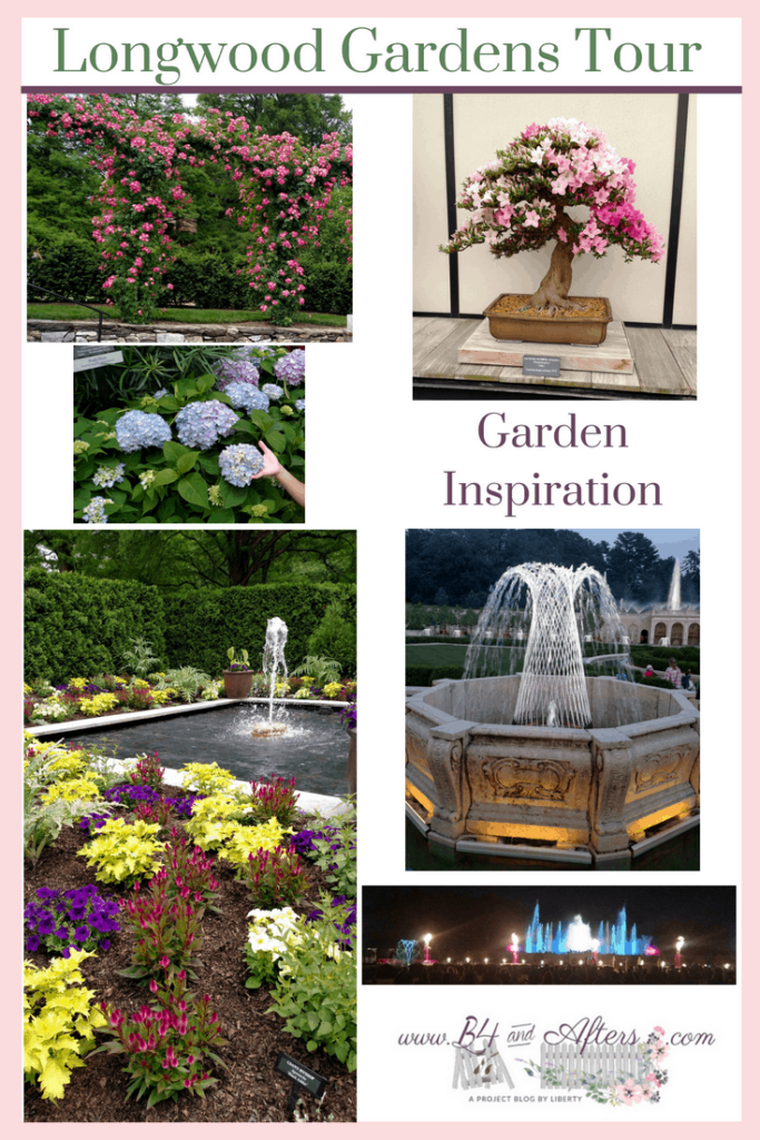 collage of flowers from Longwood Gardens