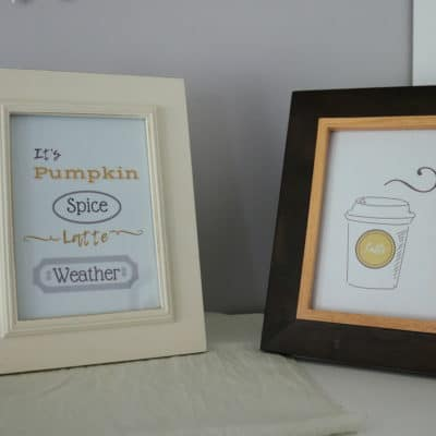 pumpkin spice latte weather printable