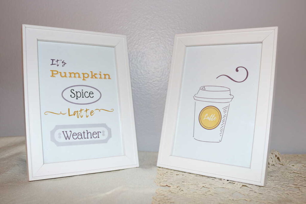 pumpkin spice latte weather quote, with a cup of coffee