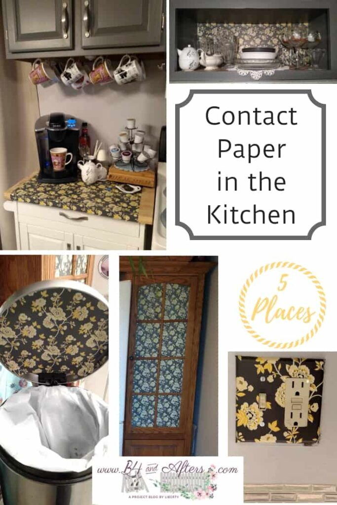 five places contact paper is used in the kitchen by B4andAfters.com