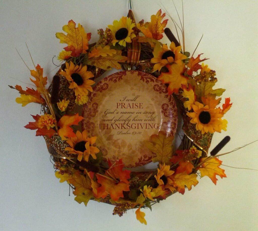 floral fall wreath