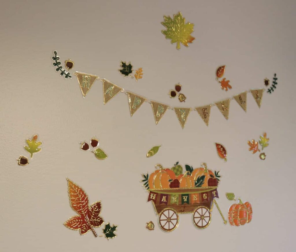 fall Harvest stickers on the wall