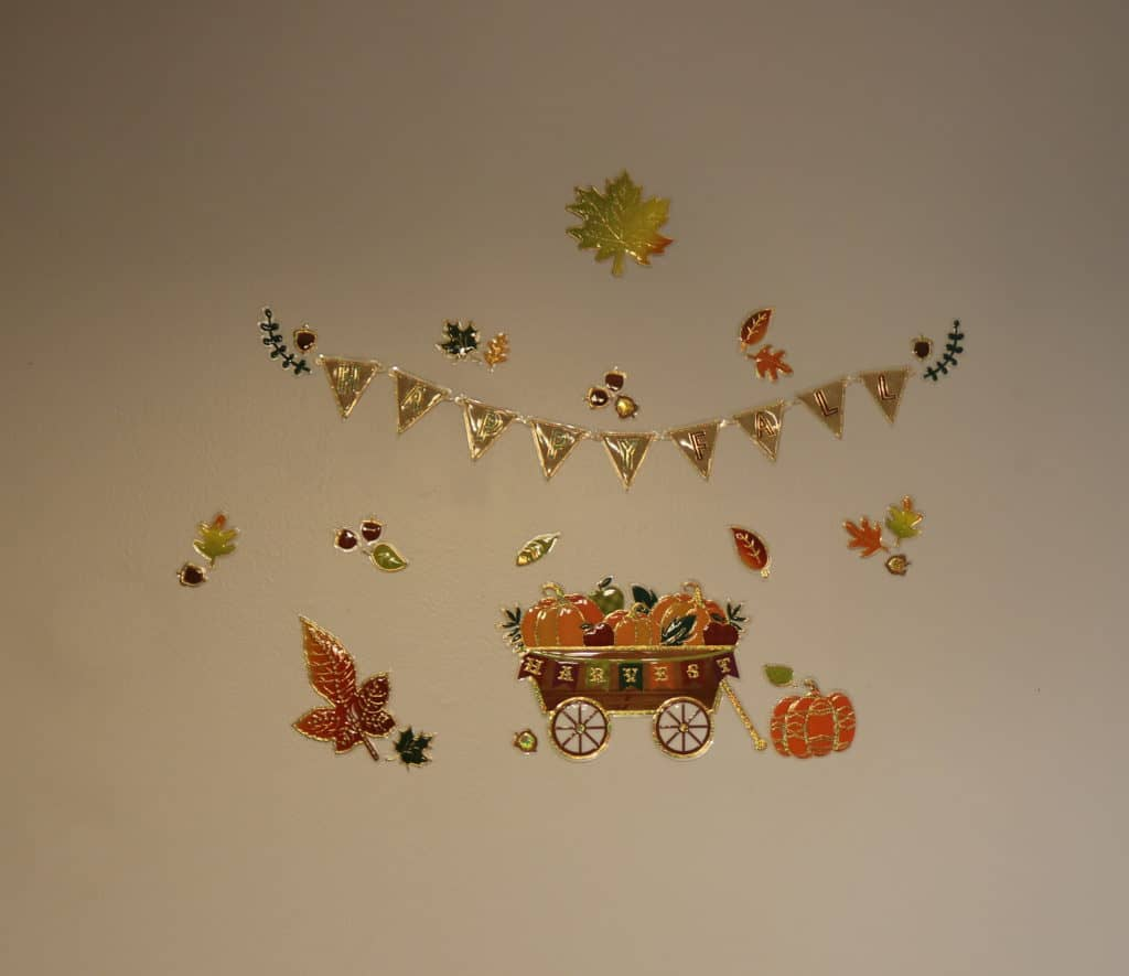 fall wall sticker collage