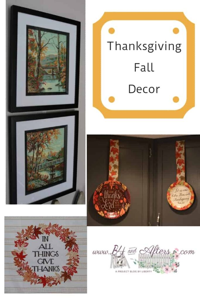 Thanksgiving Fall Decor collage