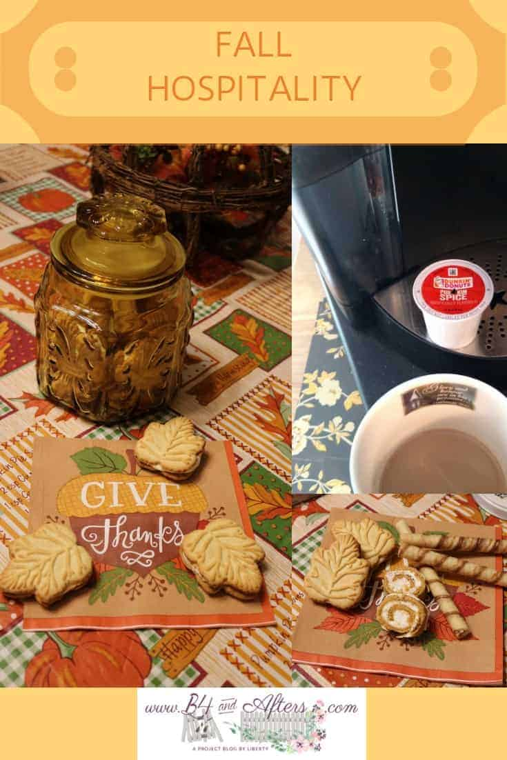 maple cookies and pumpkin spice coffee