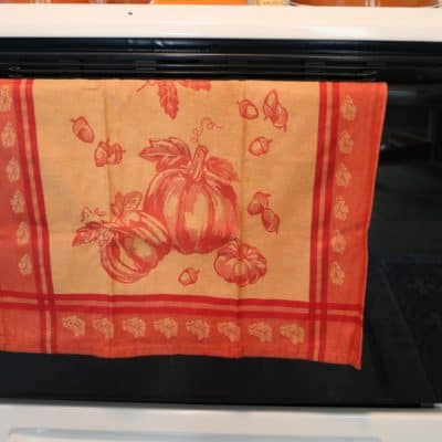 pumpkin kitchen hand towel