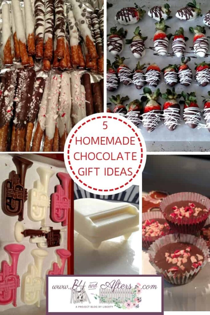 chocolate gift ideas collage