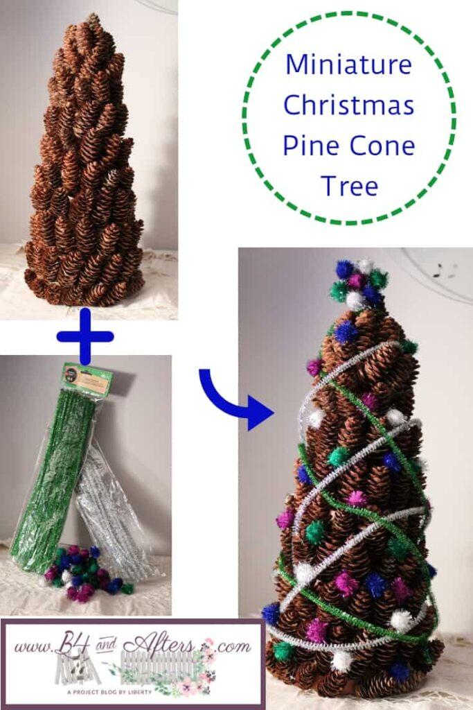 Miniature Christmas Pine Cone Tree