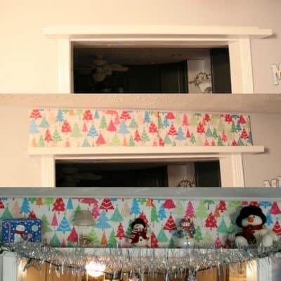snowman styled shelf