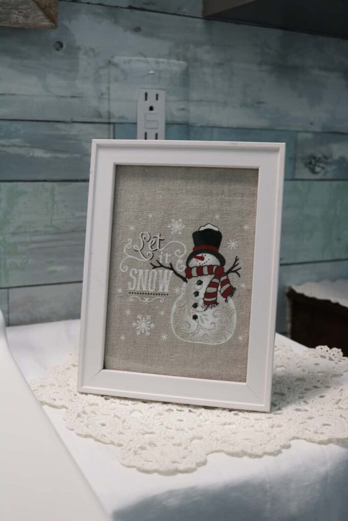 snowman fabric picture