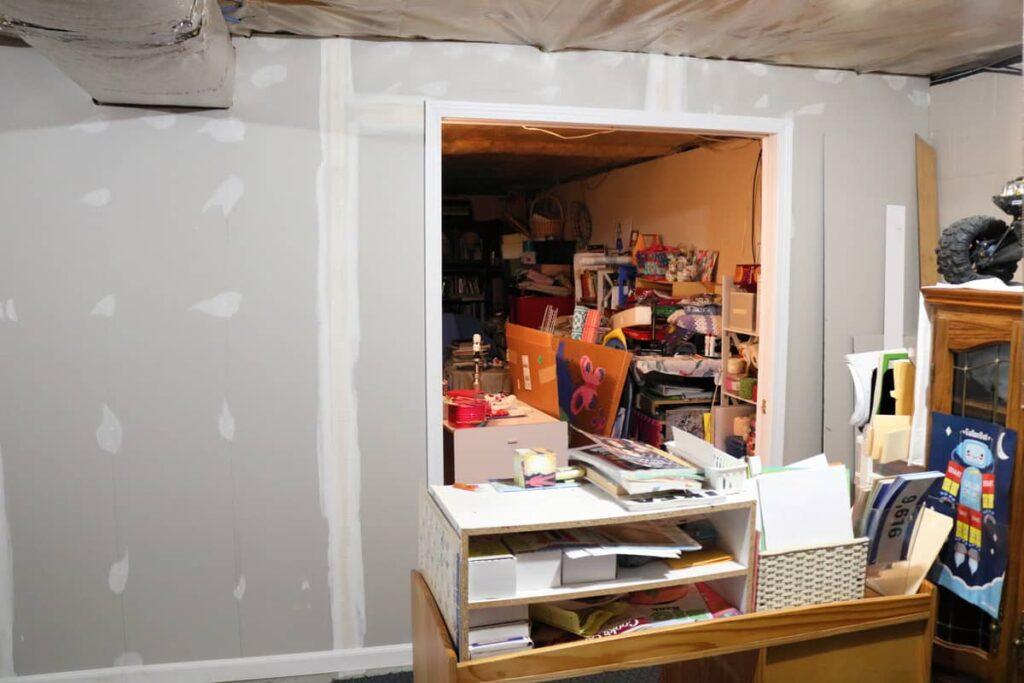 new basement wall drywall
