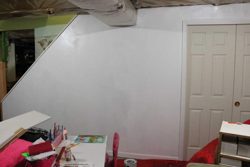 priming basement wall