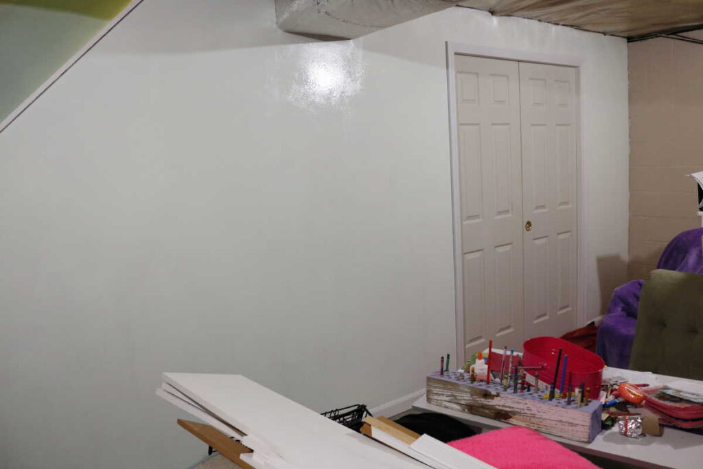 painting basement wall