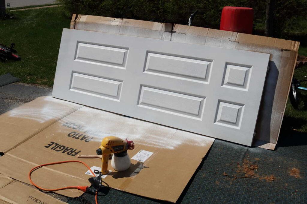 spray painting pocket doors