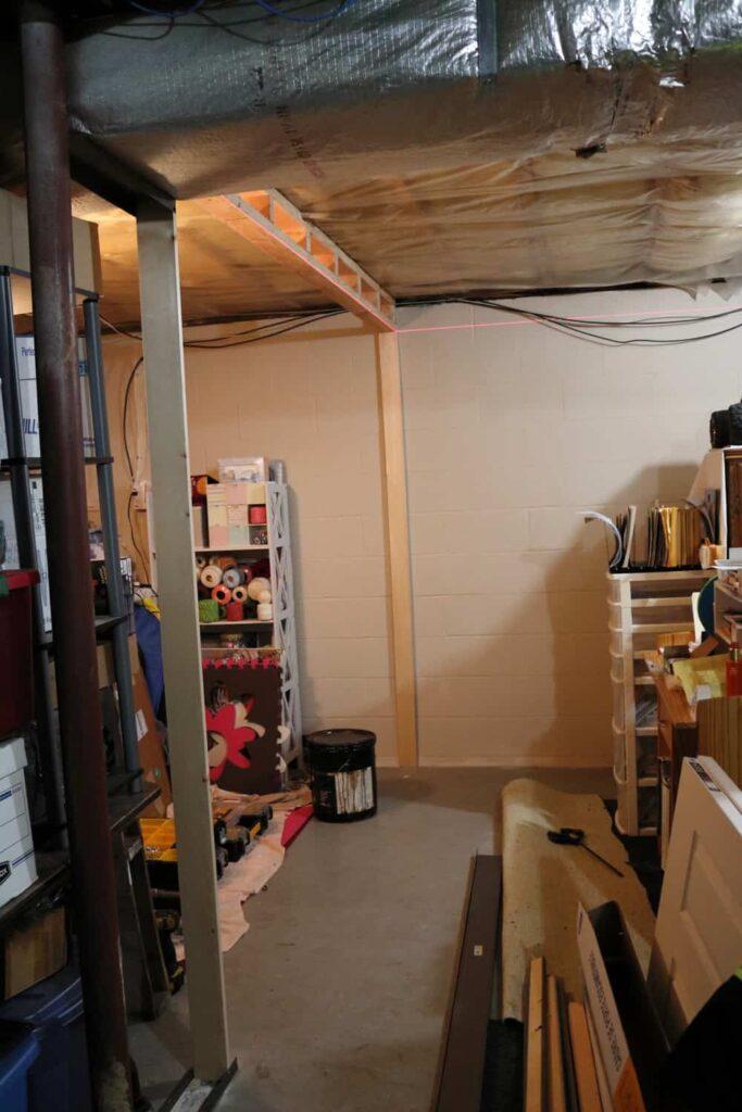 framing basement wall