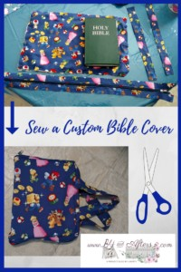 Bible cover with handles and a zipper
