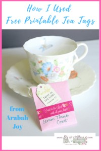 tea tags- free printable