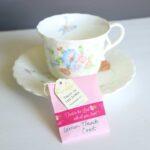 tea cup with DIY tea bag