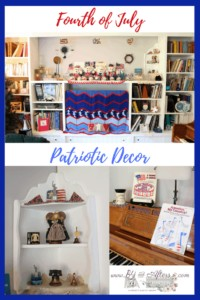 collage of Patriotic themed decor