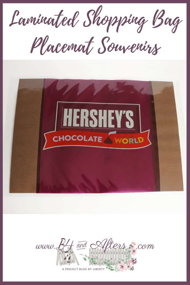 laminated shopping bag that says Hershey's Chocolate World