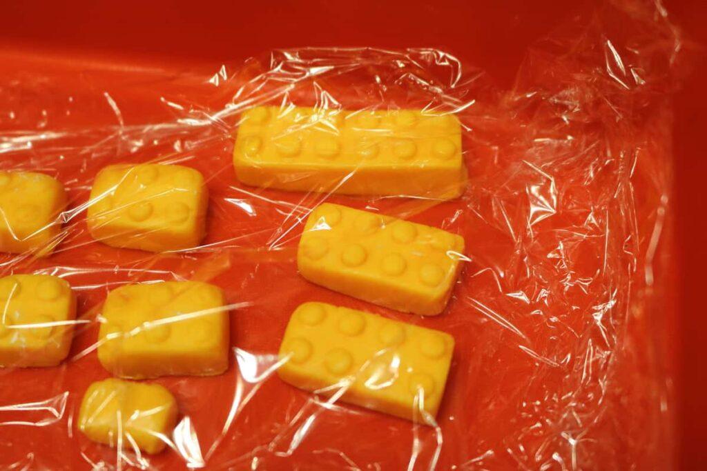 yellow marshmallow fondant lego blocks