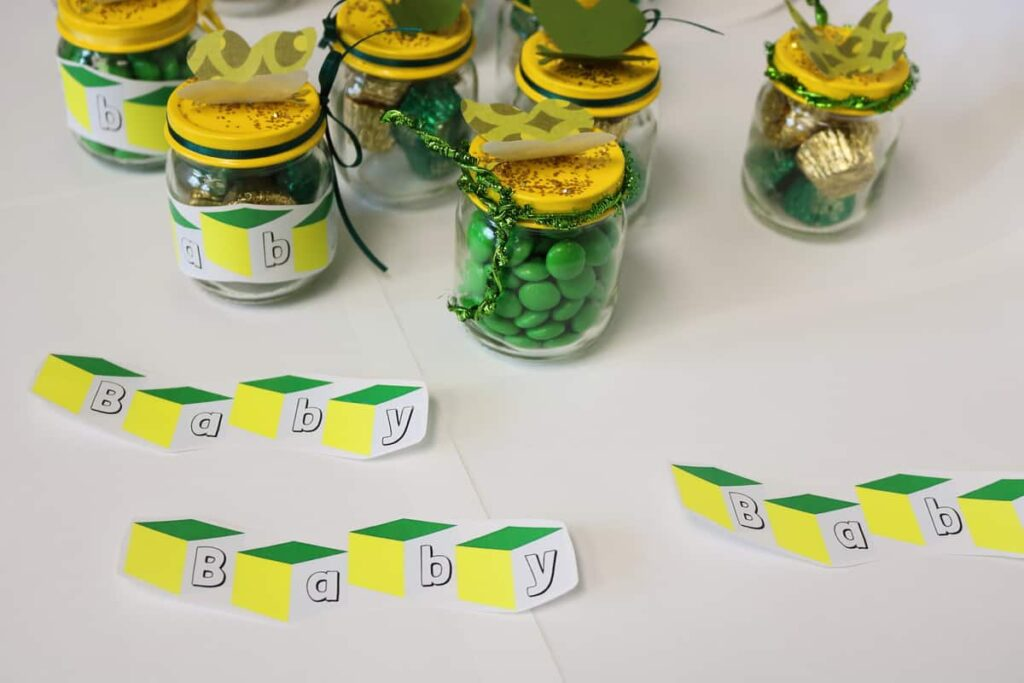 labels and jars https://www.b4andafters.com/Baby-Shower-Favors