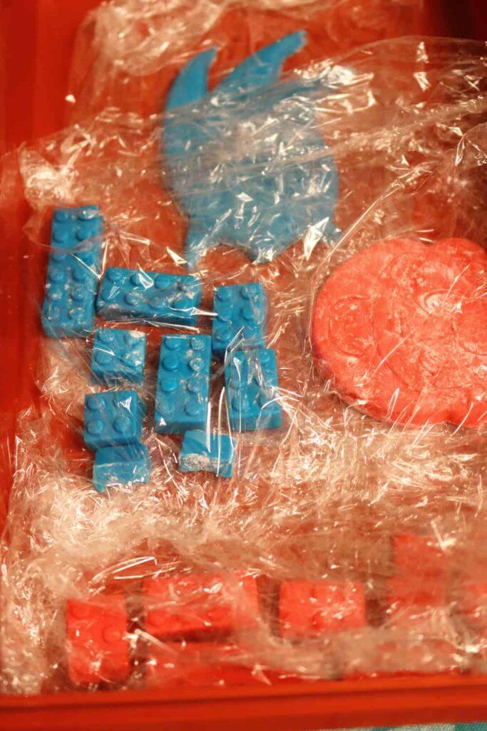 blue marshmallow fondant lego blocks