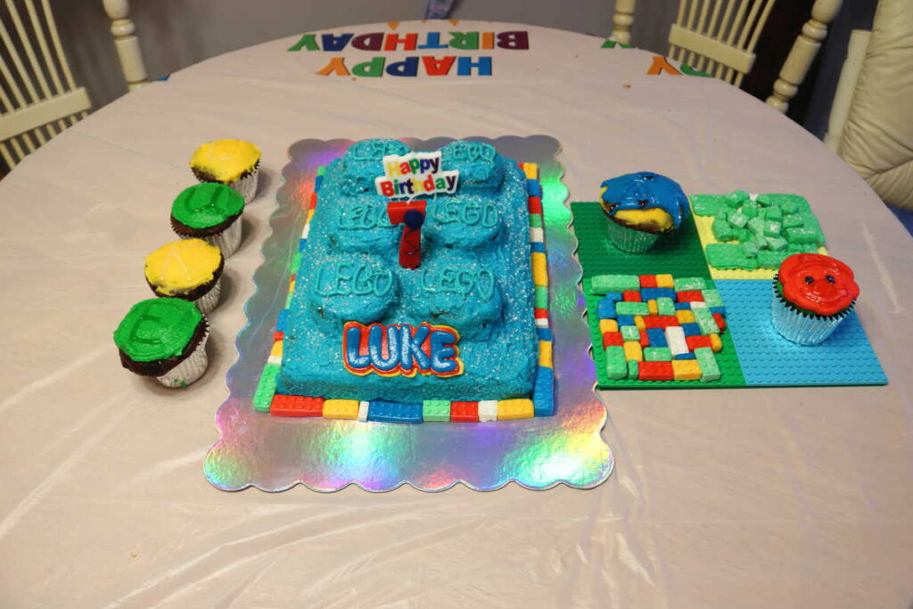 Lego birthday party goodies