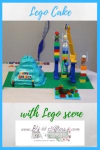 Lego Cake with Lego Scene graphic