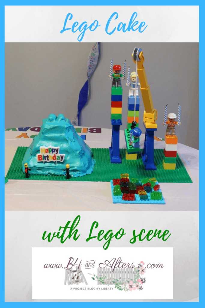 Lego Cake with Lego Scene graphic